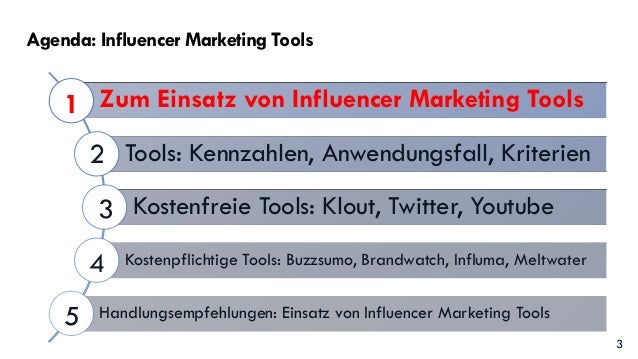 Vortrag: Influencer Marketing Tools von Claudia Hilker Slide 3