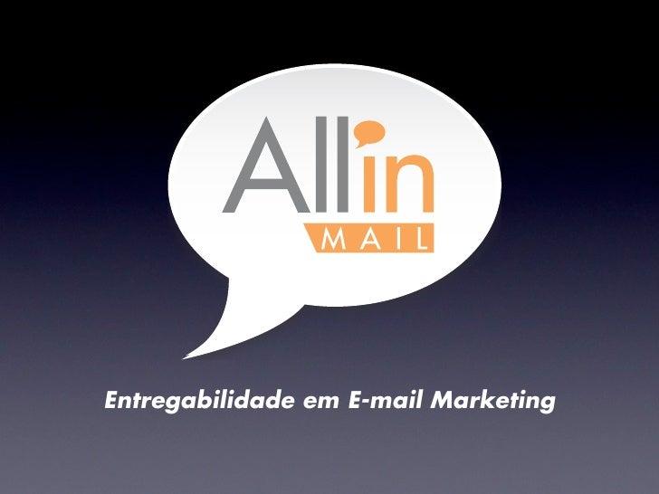 Entregabilidade em E-mail Marketing