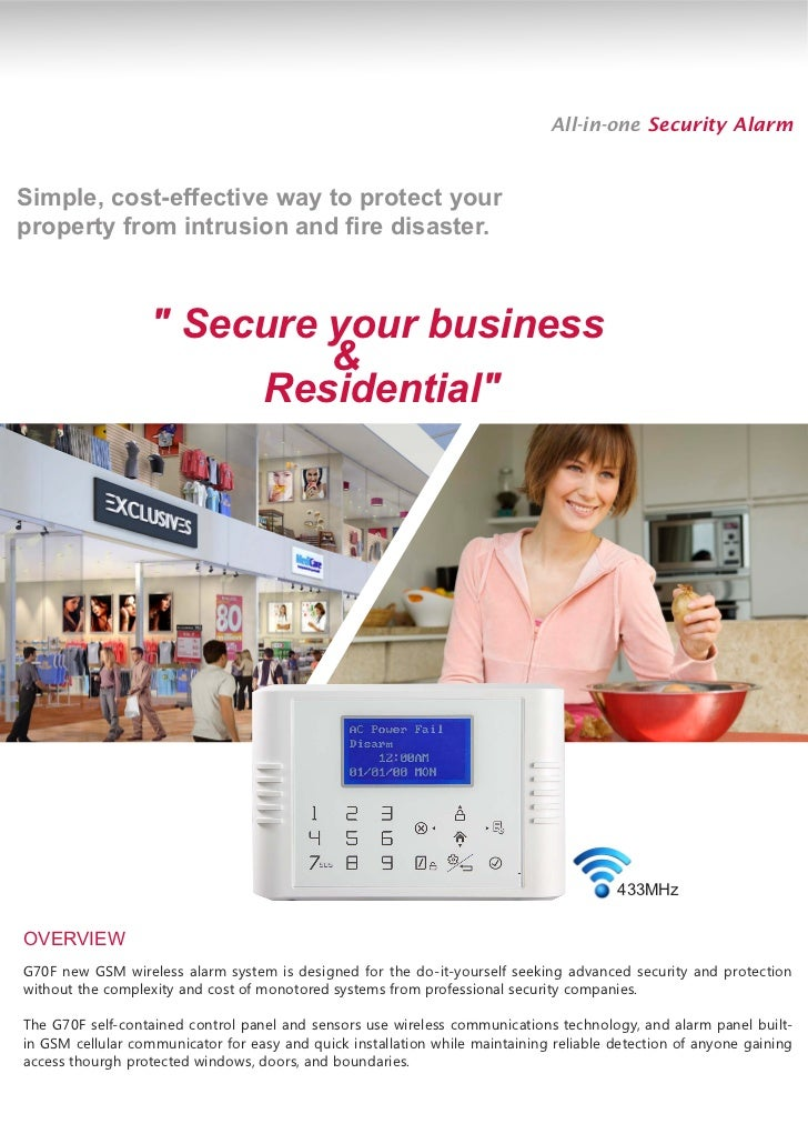 Wireless alarm system do it yourself wireless alarm system do it yourself all in one security alarmsimple cost effective way to protect yourproperty from solutioingenieria Images