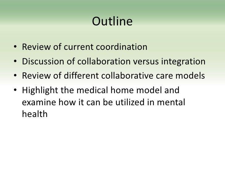 Medical home model mental health