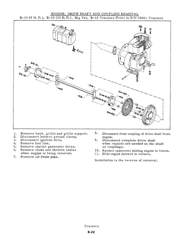 allis chalmers b series tractor pdf service manual download rh slideshare net Allis Chalmers WD Engine 201 Allis Chalmers WD Engine Parts
