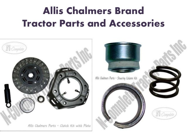 Allis chalmers tractor parts online at n complete tractor