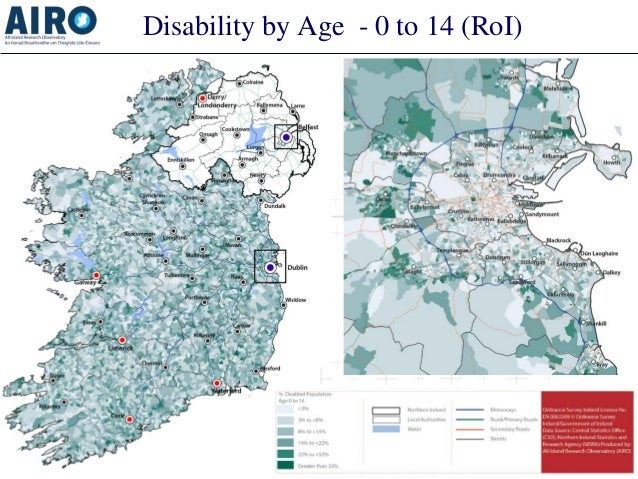 Disability by Age - 0 to 14 (RoI)