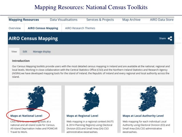 Mapping Resources: National Census Toolkits
