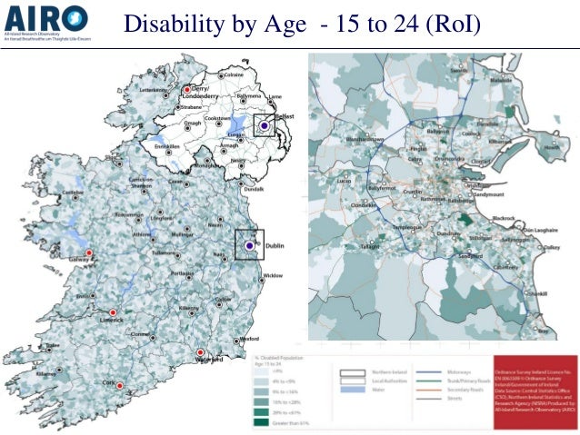 Disability by Age - 15 to 24 (RoI)