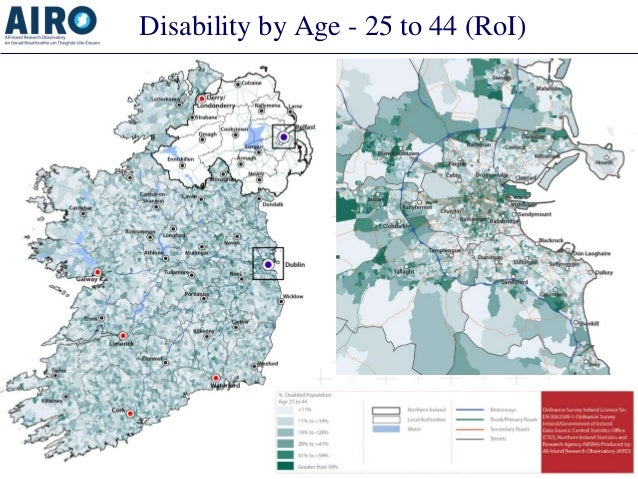 Disability by Age - 25 to 44 (RoI)