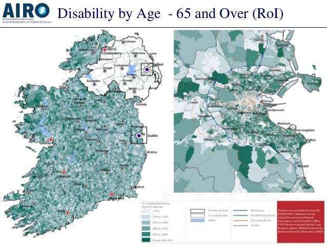 Disability by Age - 65 and Over (RoI)