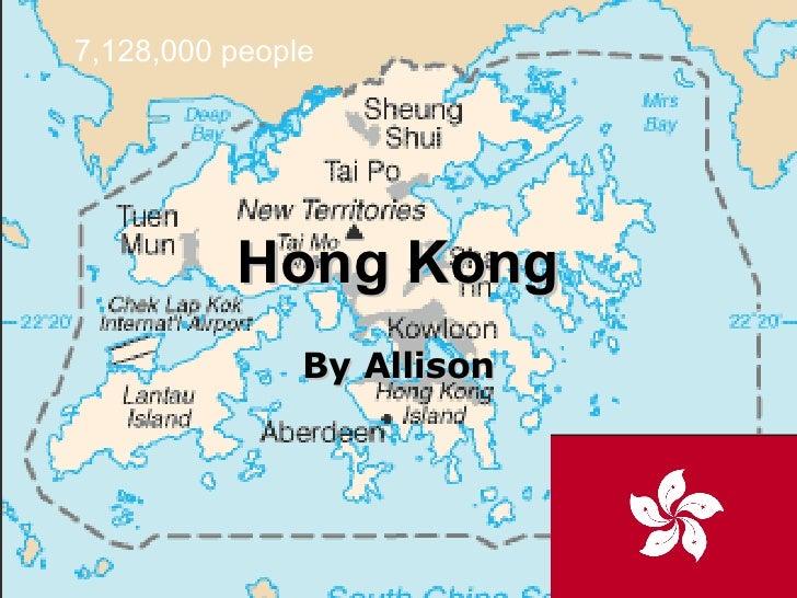 Hong Kong By Allison 7,128,000 people