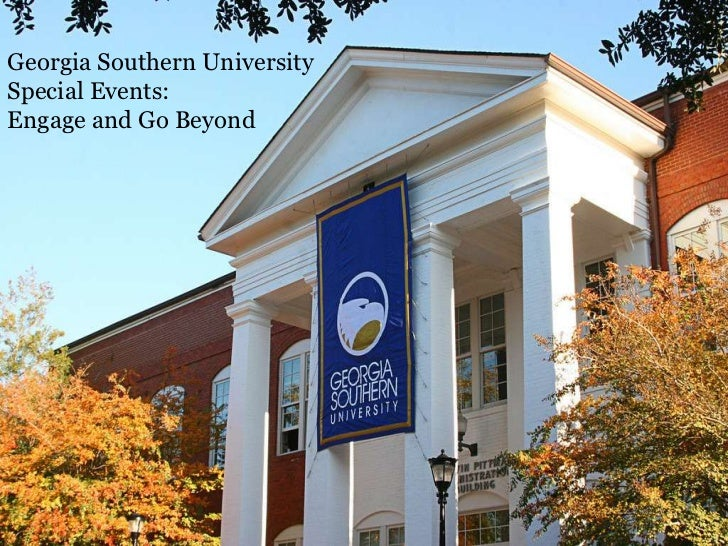 Georgia Southern University<br />Special Events:<br />Engage and Go Beyond<br />