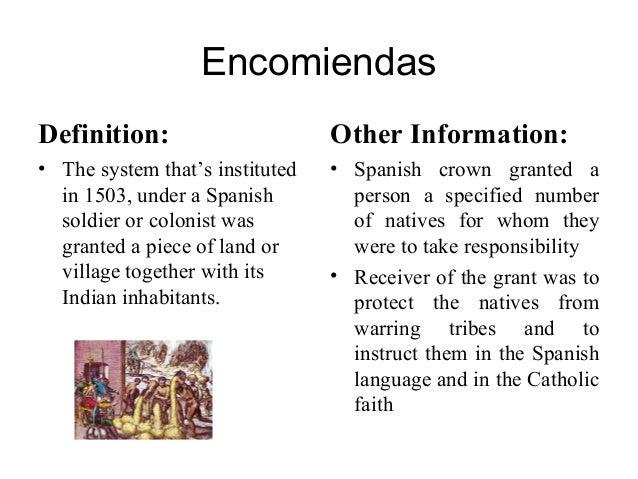 encomienda system meaning