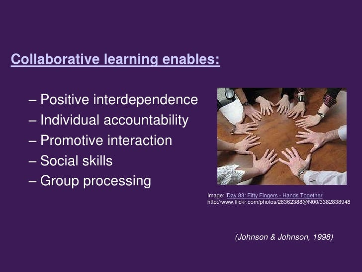 Eportfolios as Collaborative Learning Spaces Slide 3