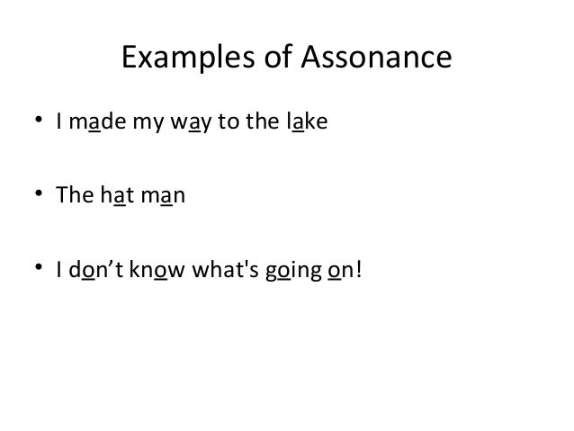 Alliteration Assonance
