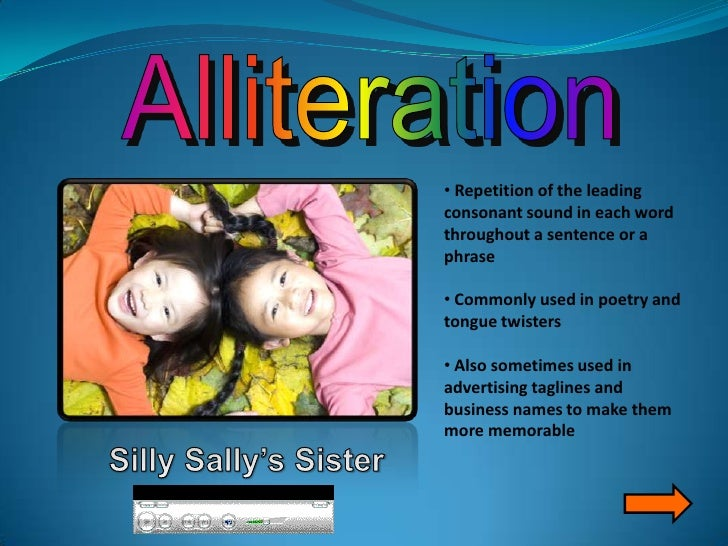 how to use alliteration in a sentence