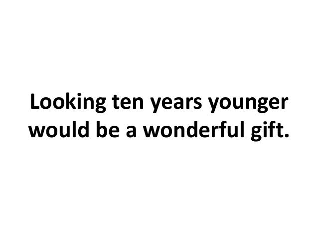 All I Want for Christmas is to Look Younger