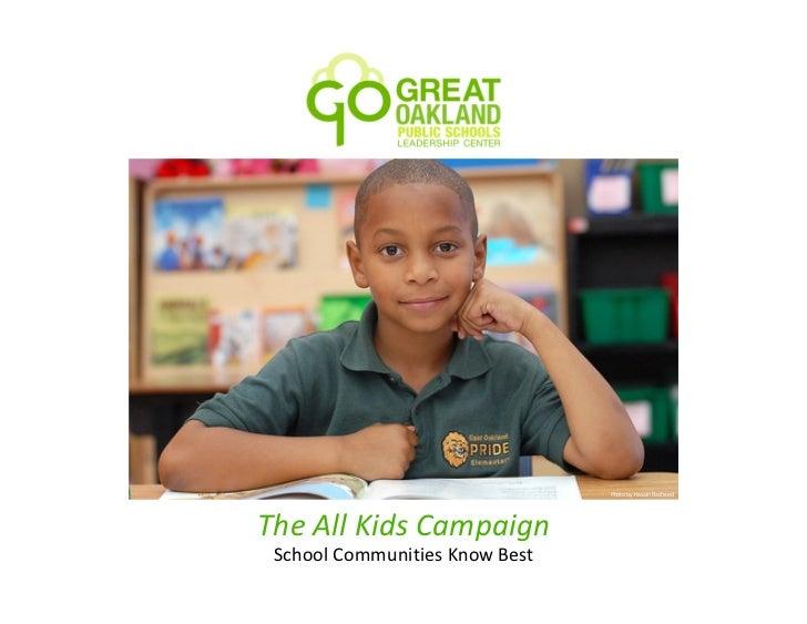 Photo by Hasain RasheedThe All Kids Campaign School Communities Know Best