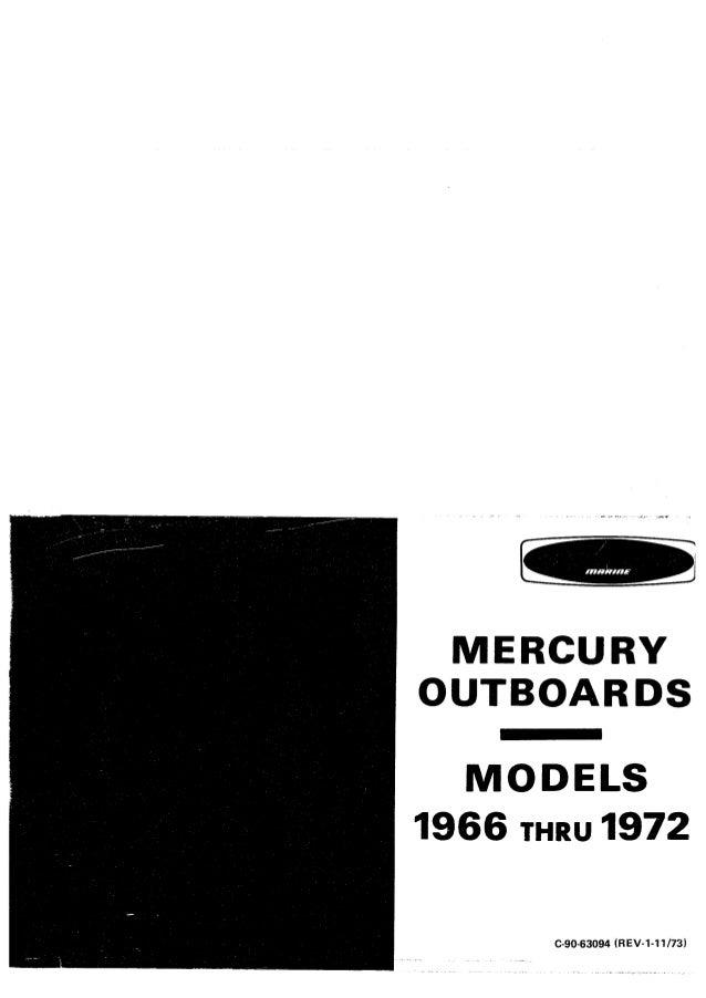MERCURY OUTBOARDS -MODELS 1966 THRU 1972
