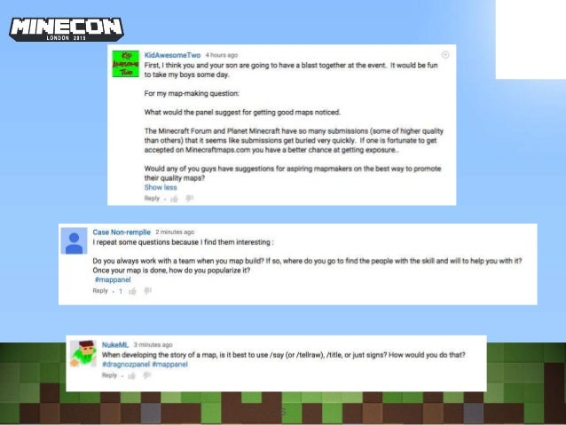 Minecon 2015 Map Making Panel