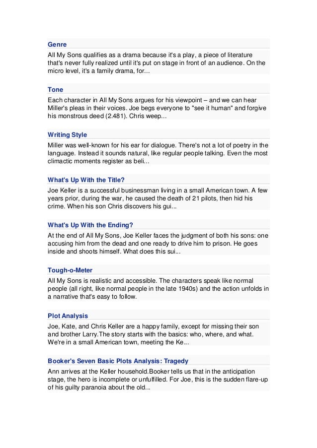 All my sons essay titles free printable 1st grade homework sheets