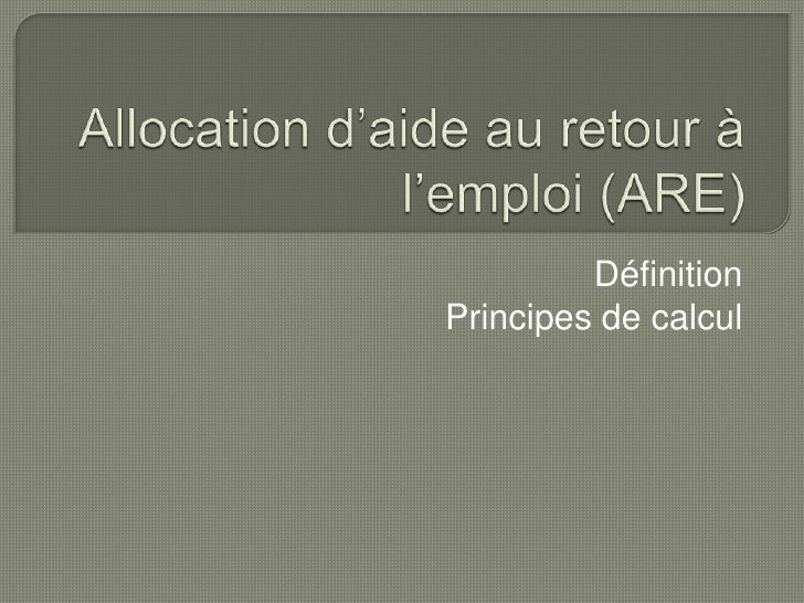DéfinitionPrincipes de calcul