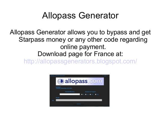 Allopass generator