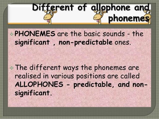 Allophone and phoneme. persentation Slide 3
