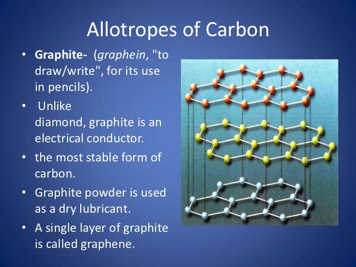 allotropes of carbon diamond and graphite These distinctions in the properties of diamond and graphite are because of the distinctions in their structures structure of diamond in diamond, the carbon.