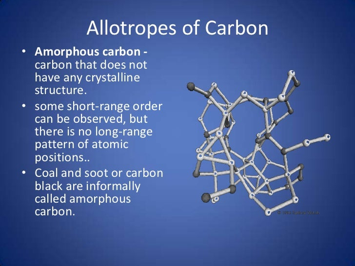 allotropes carbon Thermogravimetric analysis (tga) was performed on graphite powder, diamond  powder, and c60 powder each sample was subjected to heating (20-1000 oc).