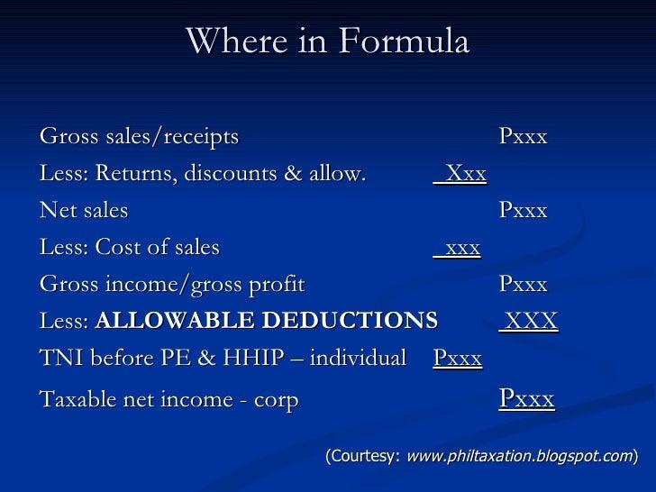 Allowable deductions.feb.2011 Slide 2