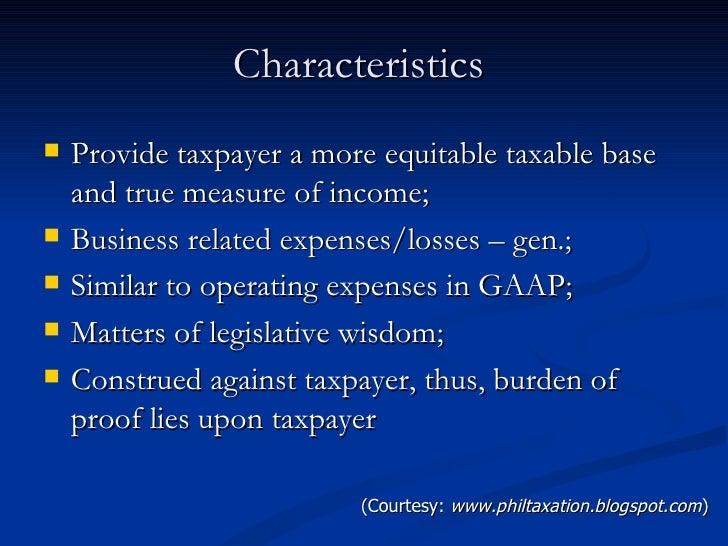 Allowable deductions.feb.2011 Slide 3