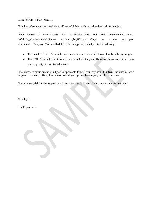 sample letter to insurance company requesting reimbursement