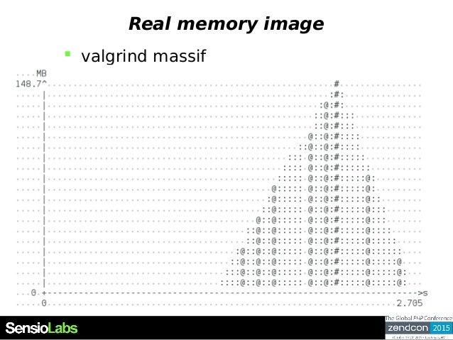 Real memory image  valgrind massif