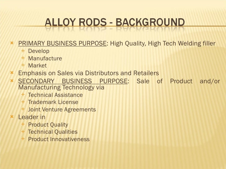 alloy rod corporation Since 2009 national aluminum & alloy has been providing superior quality metal   has been one of the best supply chain decisions our company has made.