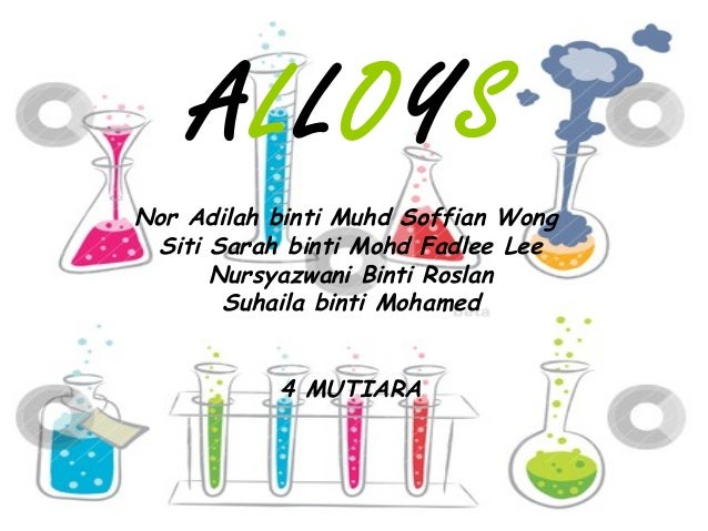 Chemistry Form 4 Chapter 9 Alloys
