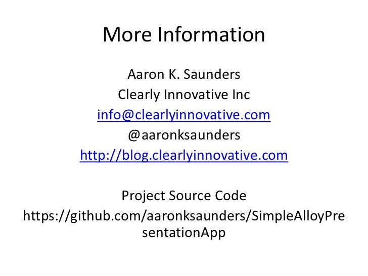 More Information                Aaron K. Saunders               Clearly Innovative Inc           info@clearlyinnovative.co...