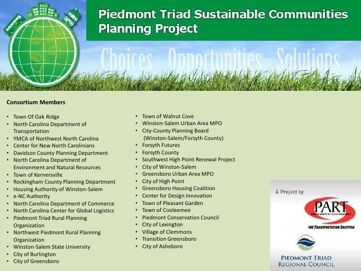 Consortium Members• Town Of Oak Ridge                            • Town of Walnut Cove• North Carolina Department of      ...