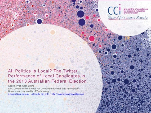 All Politics Is Local? The Twitter Performance of Local Candidates in the 2013 Australian Federal Election Assoc. Prof. Ax...