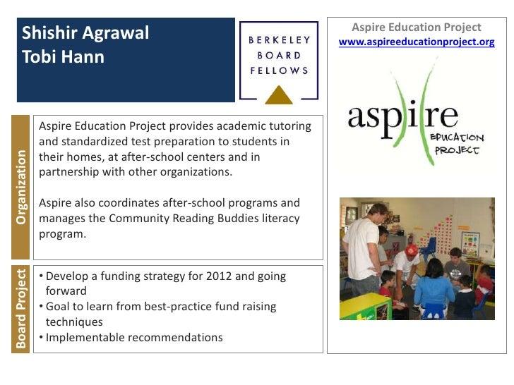 Aspire Education Project      Shishir Agrawal                                                 www.aspireeducationproject.o...