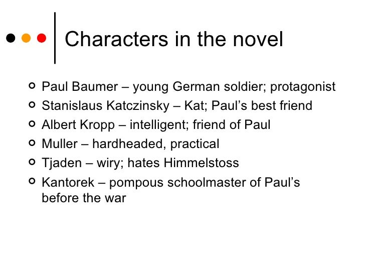 character analysis of paul baumer in all quiet on the western front The contribution of all quiet on the western front to our understanding of psychological  all quiet on thewestern front,  the main character, paul baumer,.