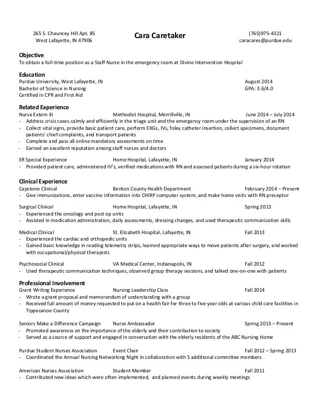 sample nursing student resume clinical experience 7 best resumes