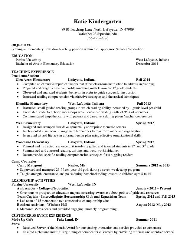 College Counselor Resume Objective