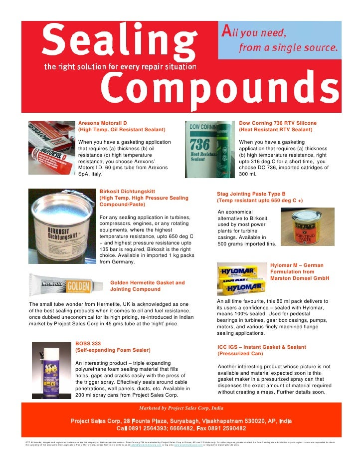 All Sealing Compounds One Source