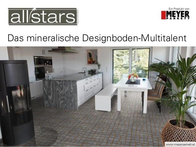 Das mineralische Designboden-Multitalent Ein Produkt von www.meyerparkett.at