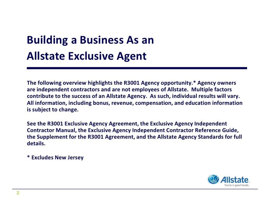 Allstate Exclusive Agent Presentation