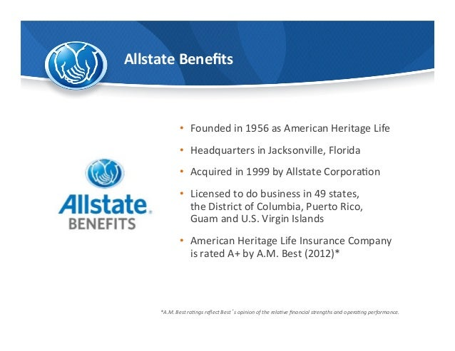 Allstate Employee Benefits >> Allstate Voluntary The Allstate Corporation