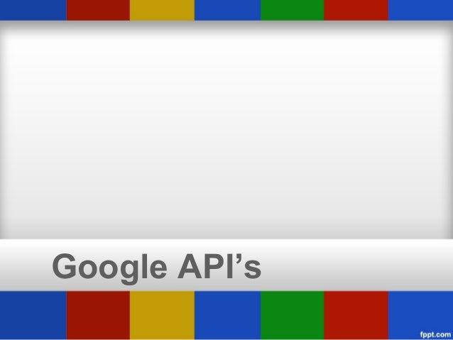 Google API's