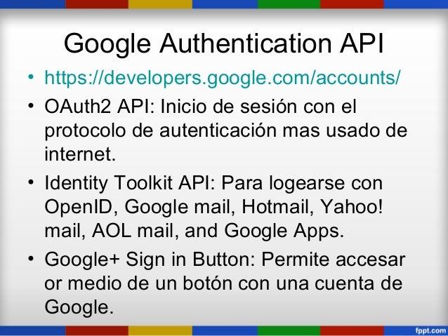 Todas las APIs de Google