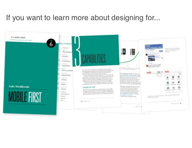 If you want to learn more about designing for...