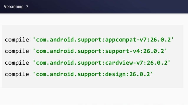 All the support you need  Support libs in Android