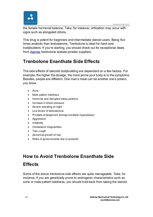All the things about trenbolone enanthate powder