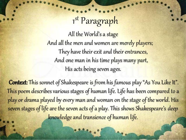stages of life poem